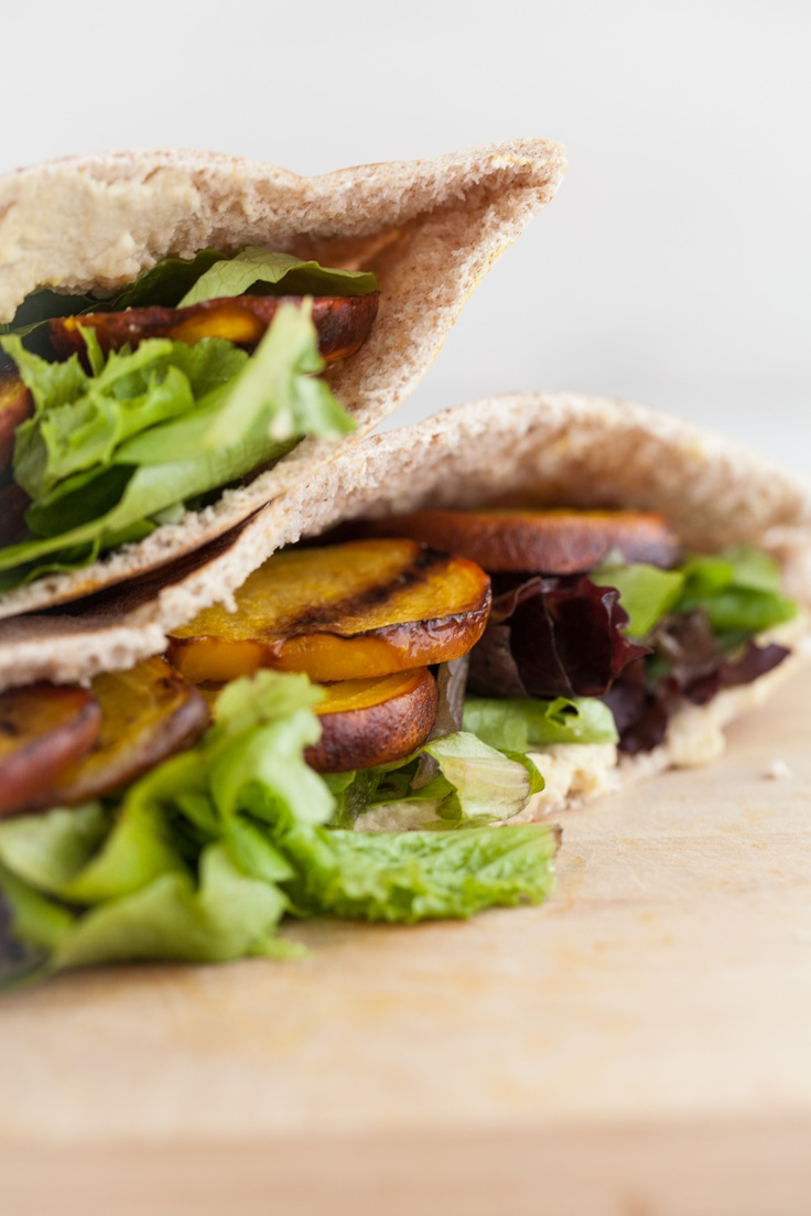 Grilled beet and hummus stuffed pita | Fire Up The Grill | Pinterest