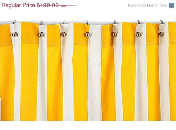 Blowout SALE Shower Curtain - Yellow Striped Shower Curtain - Stripe ...