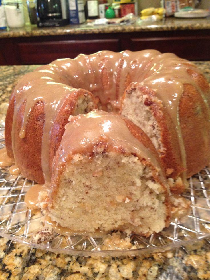 Brown Sugar Pecan Caramel Pound Cake