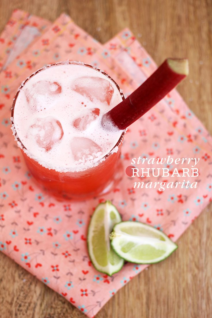 Strawberry Rhubarb Margarita - Just add Fresita!