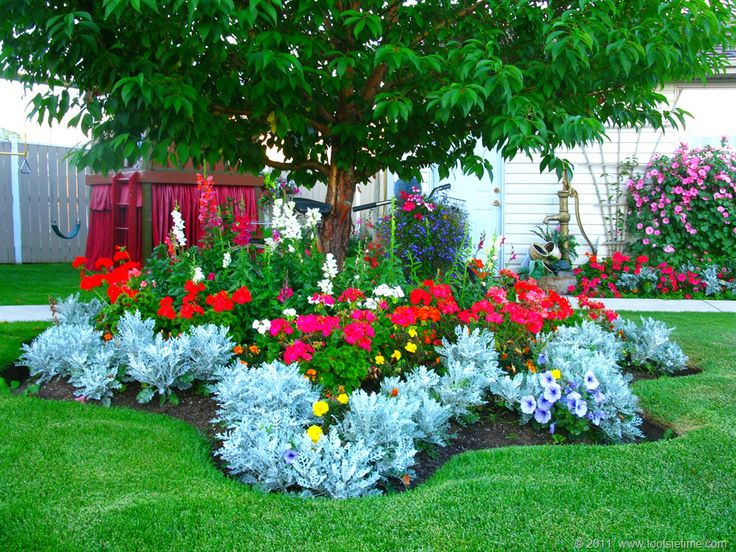 Flower bed idea landscaping ideas pinterest for Garden bed landscaping ideas
