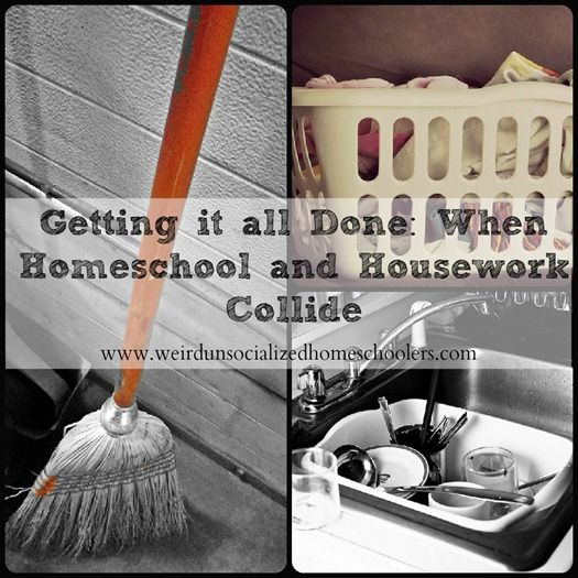 Getting housework done while homeschooling