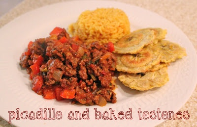 Picadillo and Baked Tostones | Recipes to Try | Pinterest