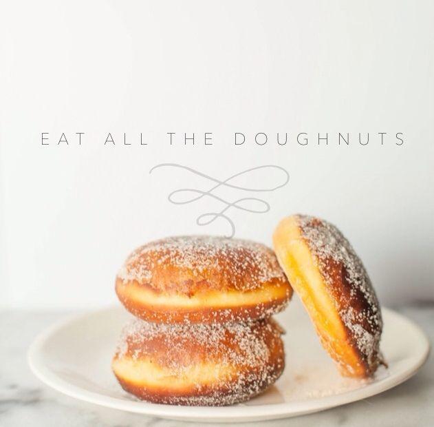 vanilla-cream filled doughnuts | desserts | Pinterest