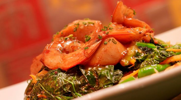 Shrimp and sauteed greens at Ruby Foo's   Pan-Asian   Pinterest