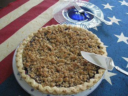 Gluten Free Baked Blueberry-Crumb Pie | Desserts & Sweets | Pinterest