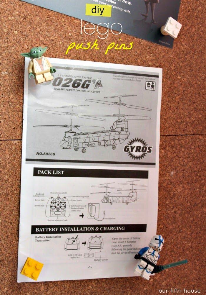 got 5 minutes? - lego push pins | DIY projects | Pinterest
