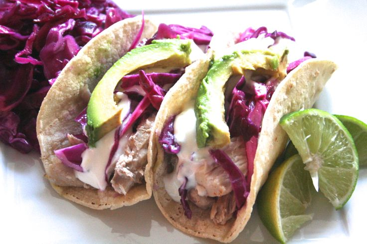Tequila-lime mahi mahi tacos with honey-lime sour cream. [www ...