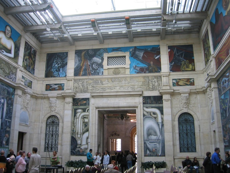 Pin by christine chapman on favorite places spaces for Diego rivera mural detroit institute of arts