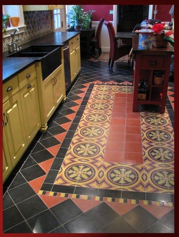 Spanish Revival Tile Floor Glass Ceramic Love Pinterest