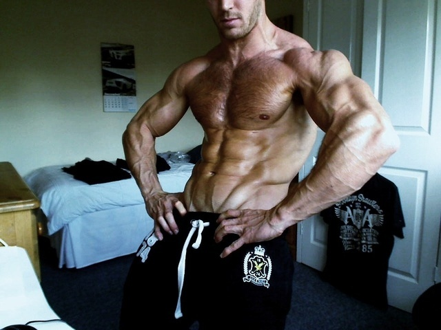 Bodybuilder Adam Charlton