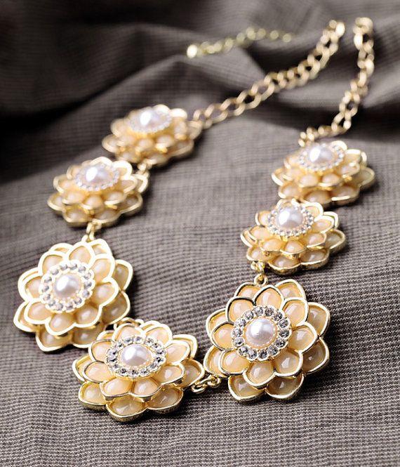 J Crew Wedding Gifts : crew style Statement necklace Bridesmaid gift by EllieSTUDIO, USD28.00