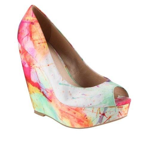 ALDO Brindamour - Women Wedge Shoes - Orange - 6 ALDO,http://www