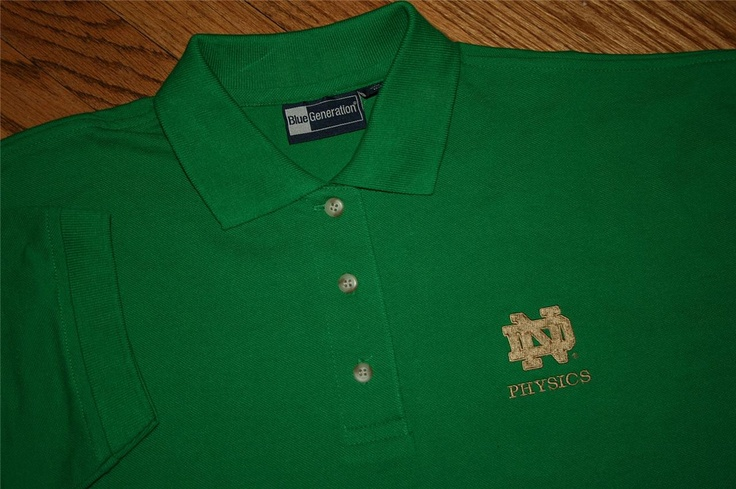 University of notre dame physics irish kelly green gold for Notre dame golf shirts