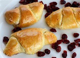 Cranberries, pecans, and cream cheese with a hint of orange rolled up ...