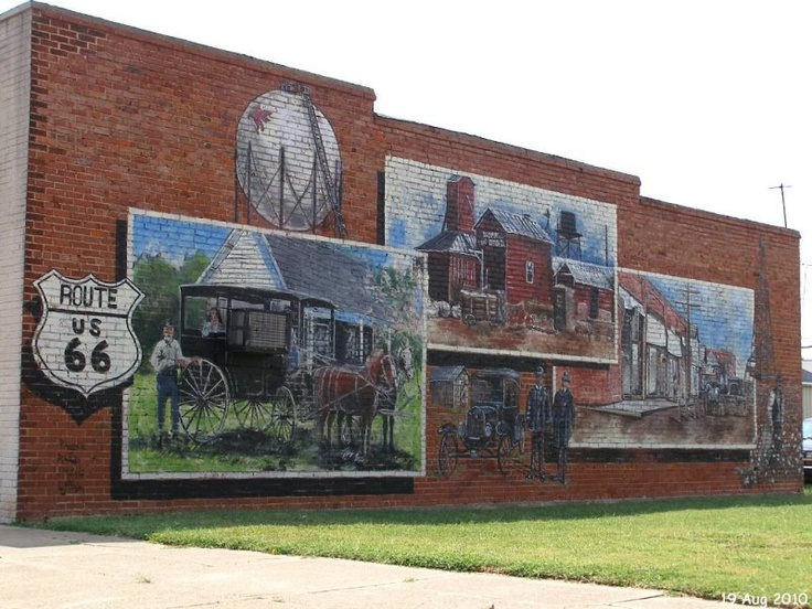 Route 66 wall murals sur la route 66 pinterest for Route 66 mural
