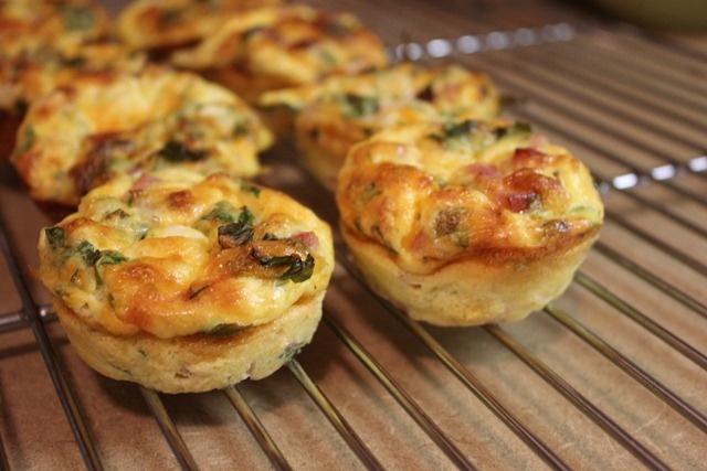 Crustless Mini Quiche's | Food / Receipts | Pinterest