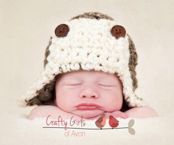 Crochet Patterns Newborn Photo Props : Aviator Crochet Pattern - Newborn to Adult Great photo prop