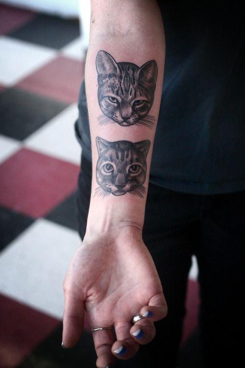 Cat Tattoo On Hand