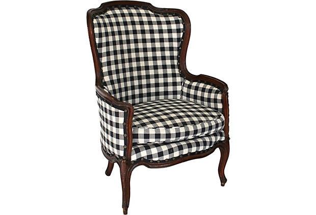 Black Amp White Wingback Chair