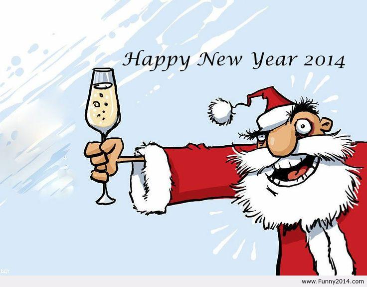Happy new year 2014  santa