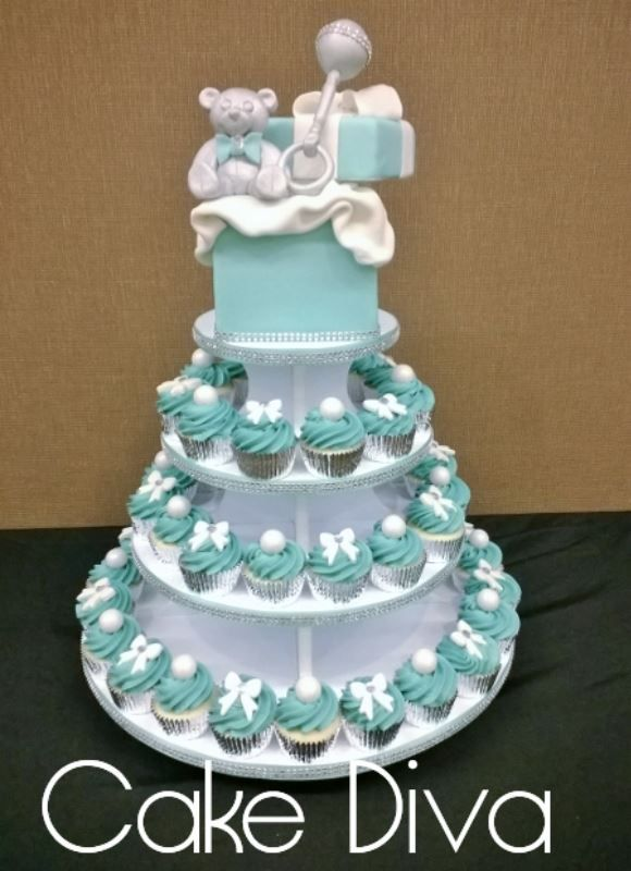 tiffany themed baby shower cake cupcakes pinterest
