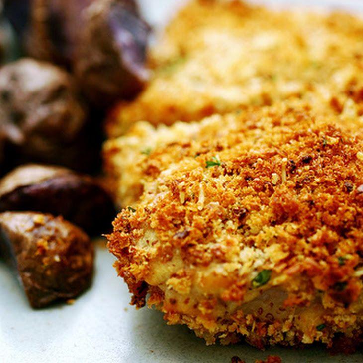 Crunchy Baked Pork Chops II Recipe | FOOD! | Pinterest