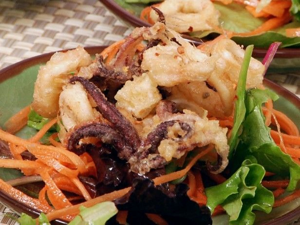 Crispy Salt and Pepper Squid with Spicy Asian Salad by Ching-He Huang ...
