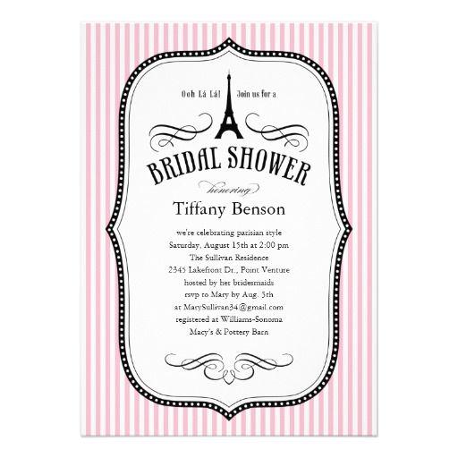 Paris bridal shower invitations for Paris themed invitations bridal shower