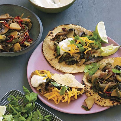 Smoky Poblano-and-Portobello Tacos   Recipe