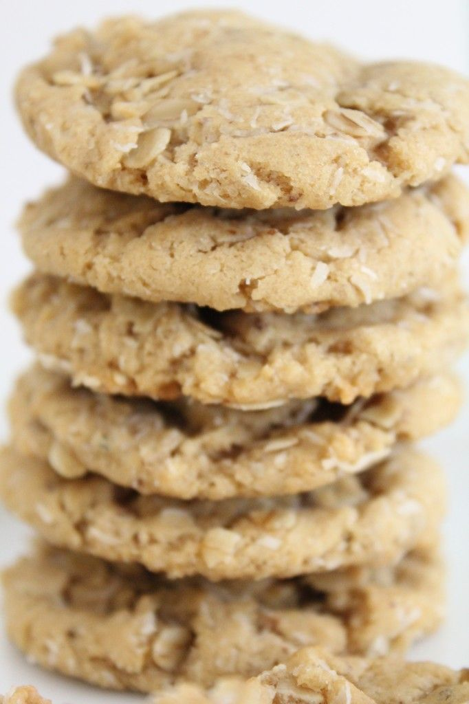 Chewy Coconut Oatmeal Cookies #vegan | Vegan | Pinterest