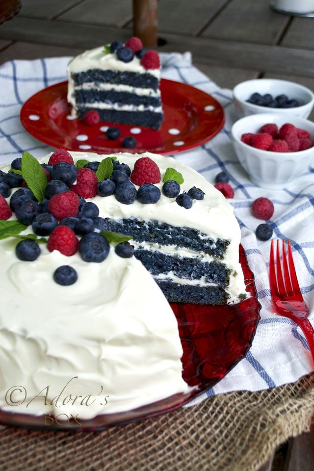Just in time for Memorial Day and 4th of July. Pretty, patriotic, and probably really tasty! ADORAs Box: BLUE VELVET CAKE