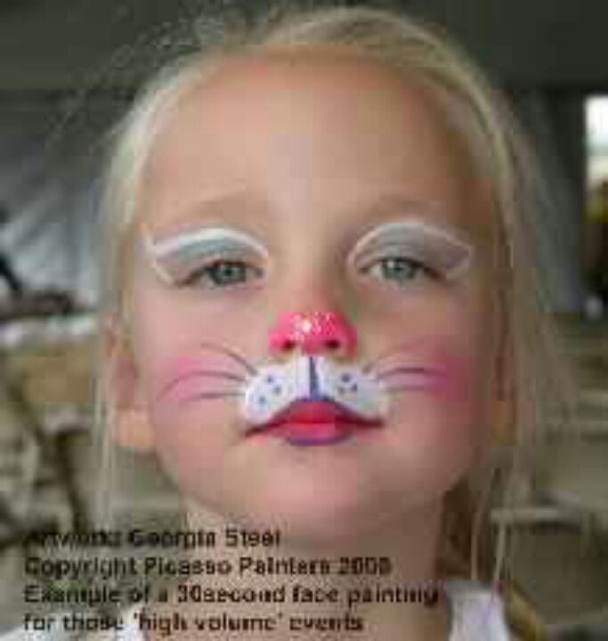 How To Paint A Bunny Nose On Your Face