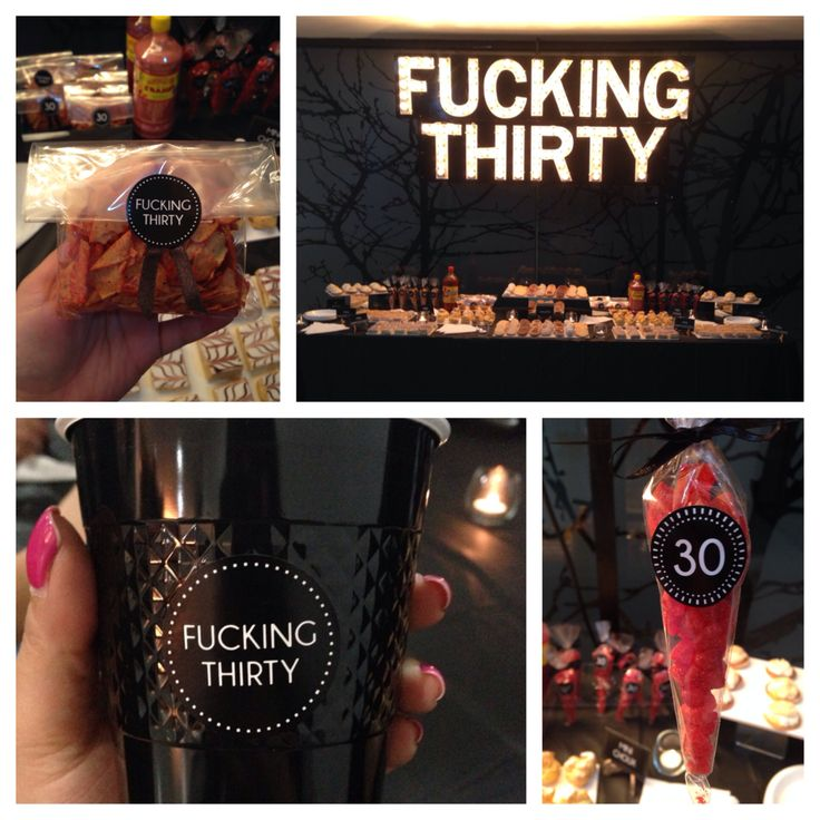 F cking thirty birthday party ideas dirty thirty for 30 birthday decoration ideas