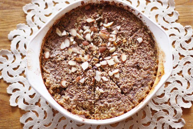 toasted almond quinoa bake breakfast. | Vegan Breakfast Recipes | Pin ...