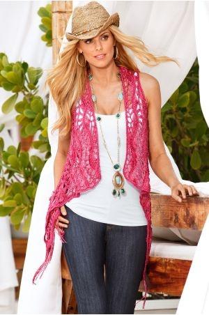 Boho Crochet Vest crochet/knitting Pinterest
