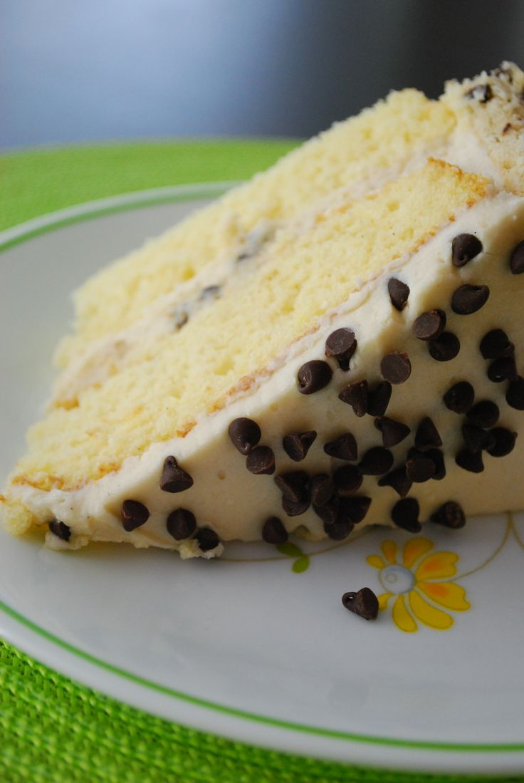 Chocolate Chip Cookie Dough Cake. Yes please!!