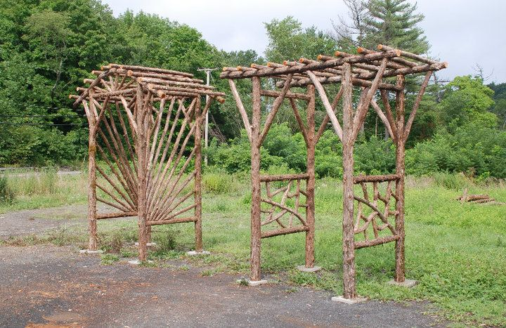 Gallery For Rustic Log Arbor