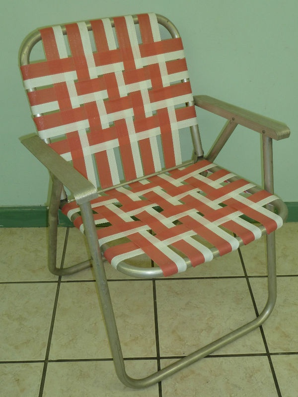 VINTAGE ALUMINUM FOLDING WEBBED LAWN CHAIR Products I Love
