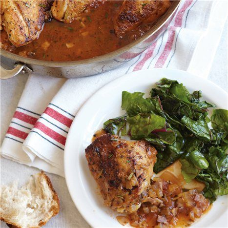 Braised Chicken With Capers And Parsley Recipe — Dishmaps