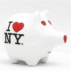 I love ny ceramic piggy bank souvenir - Piggy bank without stopper ...