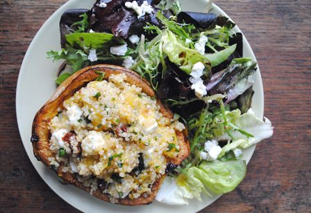 Squash Boats with Quinoa Salad | Yummy things I like to consume and n ...