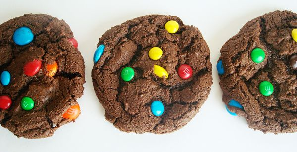 double chocolate m amp m cookies these ones are also really good and ...