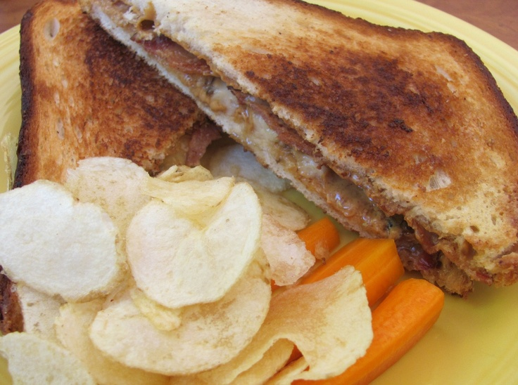 The Elvis: grilled peanut butter, honey, banana and bacon! Famous for ...
