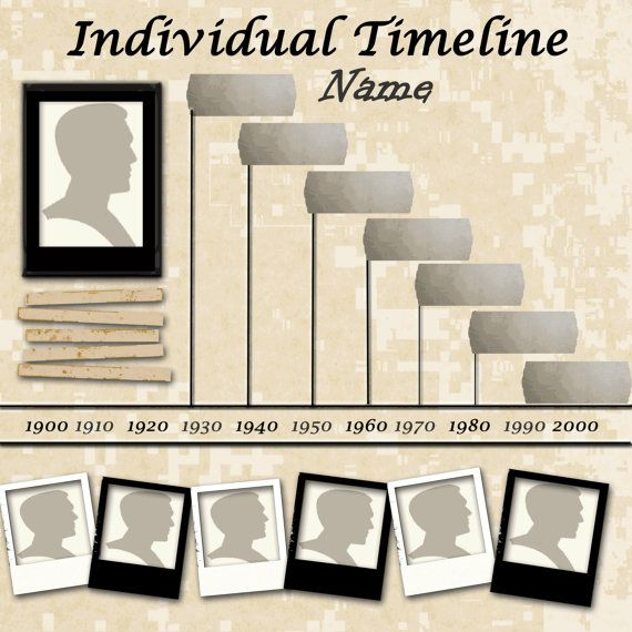 PSDFamily Tree Individual Timeline PSD by DigitalDesignsCB on Etsy, $2 ...