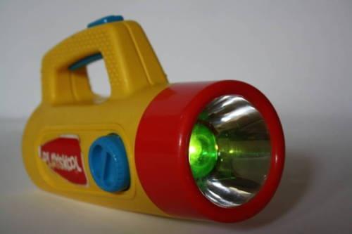 Playskool flashlight - made green, red and white light.
