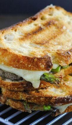 Mushroom Duxelles & Asparagus Grilled Cheese | Recipe