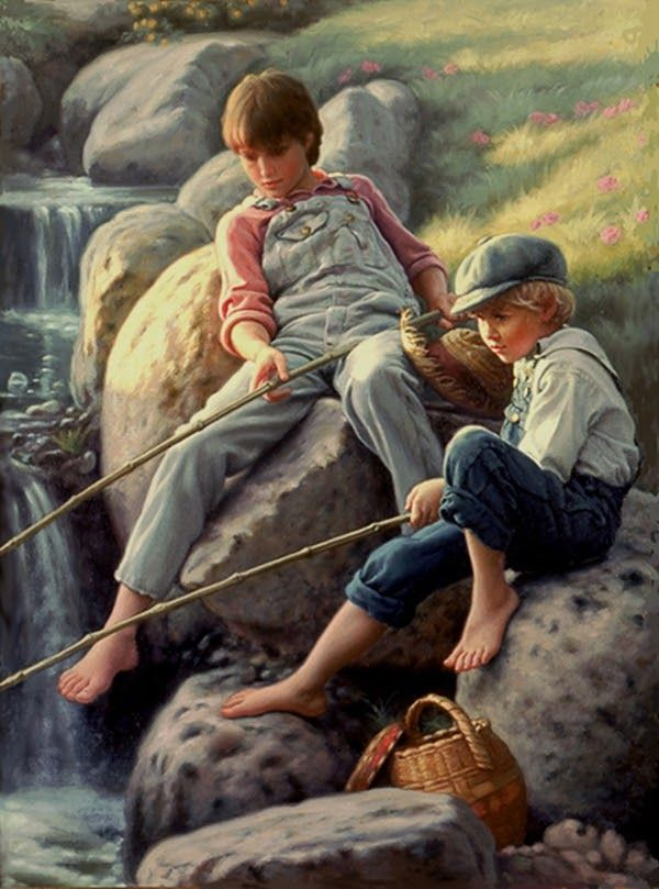 "ImpressioniArtistiche: Mark Arian, ""-FISHING AT SUNSET""."