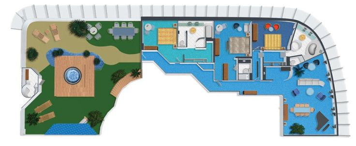 Ncl Dawn Garden Villa Floor Plan Bermuda Vacation