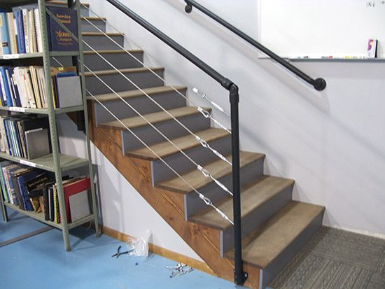 steel cable stairway | Ohio House | Pinterest
